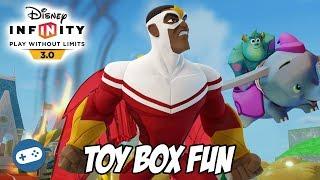 Falcon Disney Infinity 3.0 Toy Box Fun Marvel Gameplay
