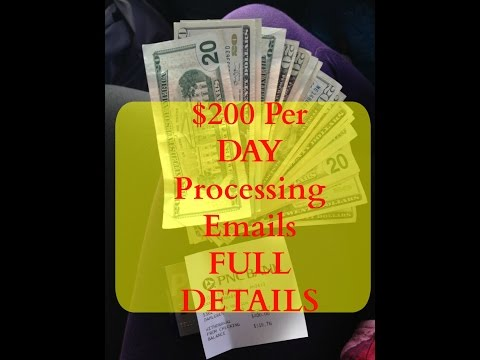 Email Processing System 2017 – $300 Daily PROOF – Make Money Online From Home