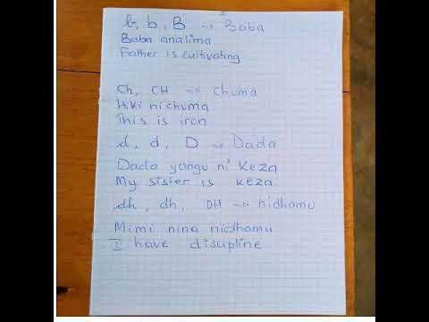 Learning Swahili online: Kiswahili consonants part I