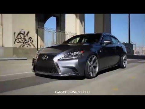 Concept One Wheels on Lexus IS 350