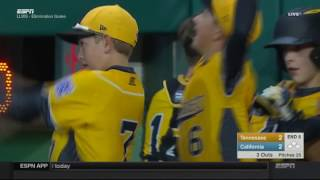 #LLWS16: Game 20 Highlight - Tennessee's Game Saving Double Play