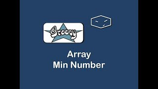 array min number in groovy