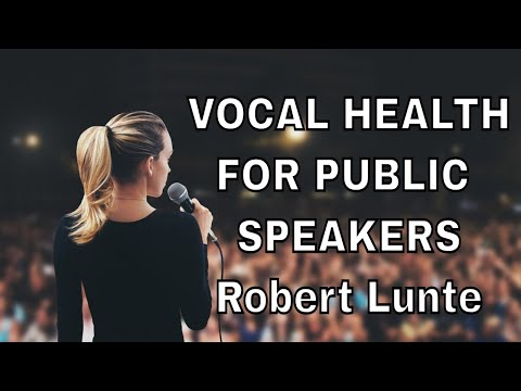 Vocal Training for Public Speakers - YouTube