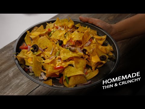 Crunchy Nachos Recipe – cafe style cheese loaded – Cookingshooking