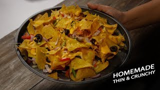 Crunchy Nachos Recipe - cafe style cheese loaded - Cookingshooking