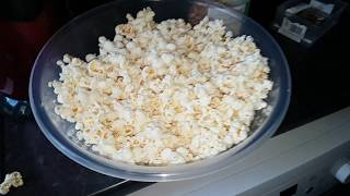 American Originals Popcorn maker from Argos (cheapest & good) quick demo after 3 yrs
