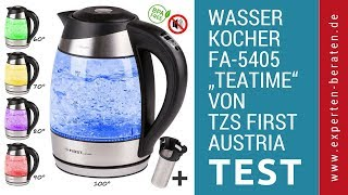 "► Unboxing- und Test-Video des Wasserkochers ""Teatime"" FA-5405 v. TZS First Austria auf Deutsch ☑"