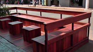 Parklet instalado no Centro de Patos de Minas gera polêmica