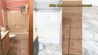 KIDS BATHROOM MAKEOVER 80% DONE =)