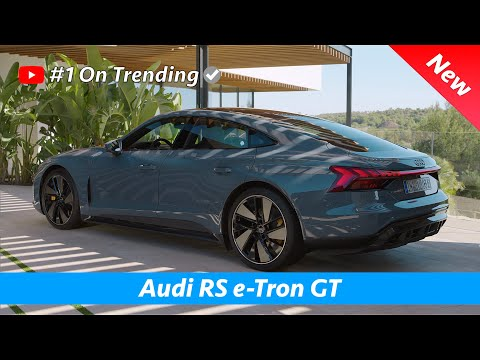 Audi RS e-Tron GT 2021 - FIRST Look of Exterior - Interior - Infotainment, CRAZY Driving Sound!