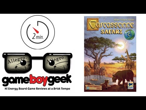 Carcassonne Safari (Allegro 2-min) Review with the Game Boy Geek