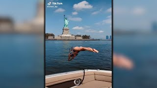 Social media reacts after woman jumps into Hudson River on TikTok