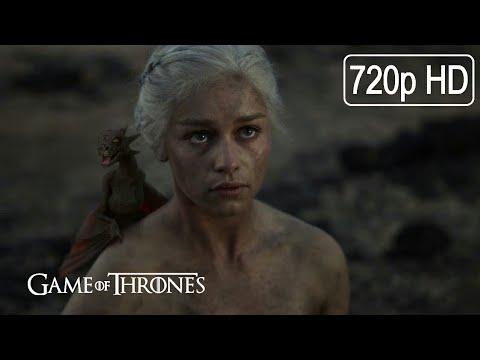 Daenerys Targaryen Gives Birth To Three Dragons - Game Of Thrones Best Scenes