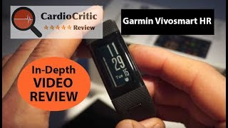 Garmin Vivosmart HR+ Video Review - Activity Tracker with wrist based HR & built-in GPS