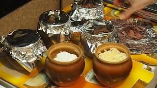 курица с картофелем и грибами в горшочках - рецепты горячих блюд