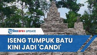Iseng Menata Batu Sisa Tambang, Sunardi Pria Asal Yogyakarta Mampu Bangun 'Candi' di Atas Bukit