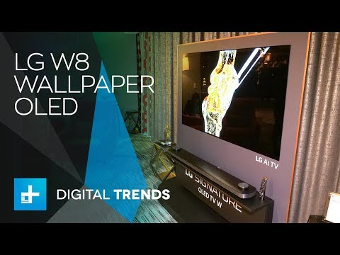 LG W8 Wallpaper OLED - Hands On at CES 2018