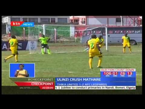 Ulinzi Stars thrash Mathare United in a match played at Afraha Stadium in Nakuru