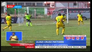 Ulinzi Stars thrash Mathare United in a match played at Afraha Stadium in Nakuru