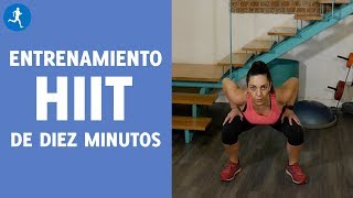 ENTRENAMIENTO HIIT EN 10 MINUTOS EN CASA, ¡TONIFICA TUS GLÚTEOS Y PIERNAS! | Vitónica