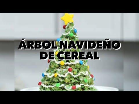 Árbol Navideño de cereal. EXPECTATIVA/REALIDAD
