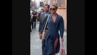 Michelle Hunziker incinta e Tommaso Trussardi Miu Miu Milano Montenapoleone
