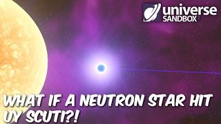 What if a Neutron Star Hit UY Scuti?!