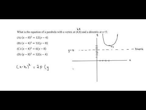 FE Exam Practice - Analytic Geometry - Parabola - YouTube