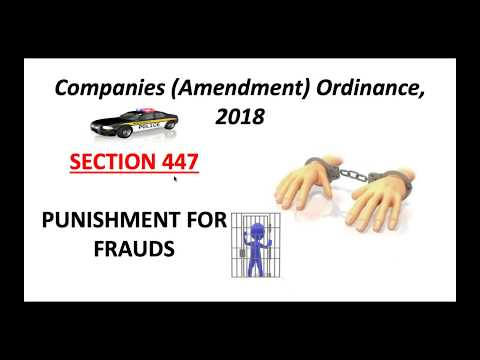 Section 447   Liability for penalty in case of fraud  Companies Act 2013 (Very important section)..