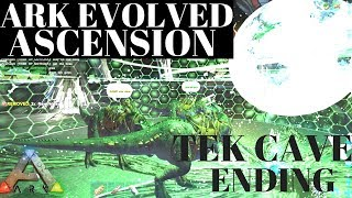 ARK  Survival Evolved How to beat Tek cave and ascension. end game with 4 Trexs