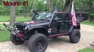 Jeep JKU Flag Mounts