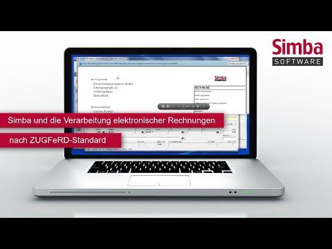 Simba und die Verarbeitung elektronischer Rechnungen nach ZUGFeRD-Standard