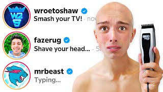 DMing 100 YouTubers Asking For A Dare! (i regret this)