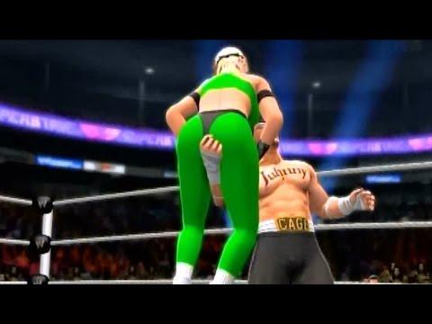WWE 2K14 Sonya vs Johnny Cage