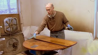Mitigating Water Stains in an Antique Tabletop