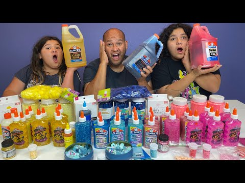 Making Slime with Only One Color Ingredients Slime Challenge
