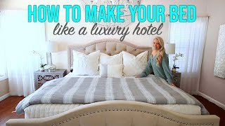 How to Make Your Bed Like a Luxury Hotel! 10 Bed Making Hacks!