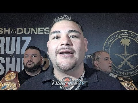 """ANDY RUIZ KNOWS JOSHUA'S GAME PLAN IN REMATCH """"HE WILL BE BOXING & JAB ME. I GOTTA LET MY HANDS GO"""""""