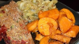 How To Make - Meatloaf & Cabbage, Yams. (Saturday Meal)