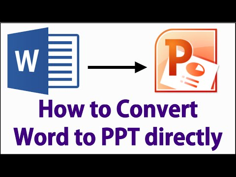 How to Convert Microsoft Word to Power-point Presentation