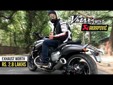 Yamaha Vmax with Akrapovic Exhaust