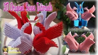 HOW TO MAKE 3D ORIGAMI SWAN | DIY PAPER SWAN HANDMADE DECORATION