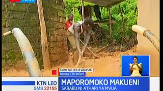 Familia zatatizika eneo la Kilungu kaunti ya Makueni baada ya maporomoko