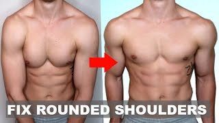 How to Fix Rounded Shoulders in 4 Moves! (PERMANENTLY)