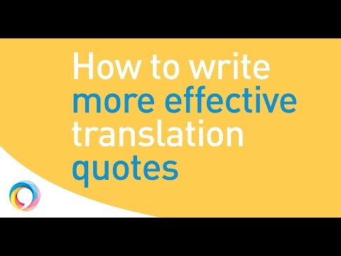 The simple translation quote writing formula that works a treat