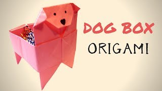 Собачка оригами. Мастер класс «Как сделать из бумаги собачку коробочку оригами» школьные лайфхаки. DIY  Всем привет! Сегодня у меня оригинальный школьный лайфхак на тему «Как сделать своими руками собачку коробочку из бумаги!». Видео