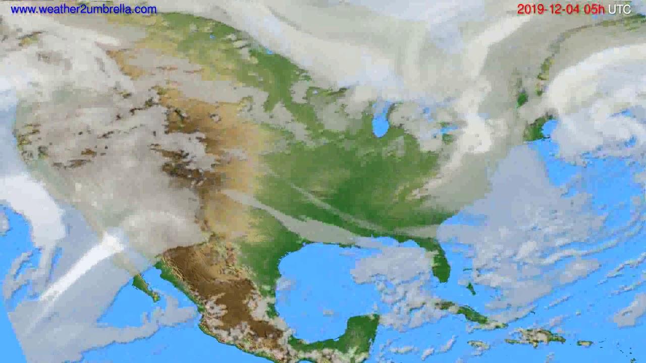 Cloud forecast USA & Canada // modelrun: 12h UTC 2019-12-02