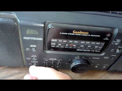 GOODMANS GPS845 AM/FM BAND STEREO RADIO & CASSETTE RECORDER/ TESTS AND...