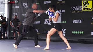 UFC 193: Valerie Letourneau open workout, spars Bigfoot Silva (FULL)