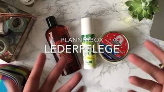 Plannerbox - Lederpflege